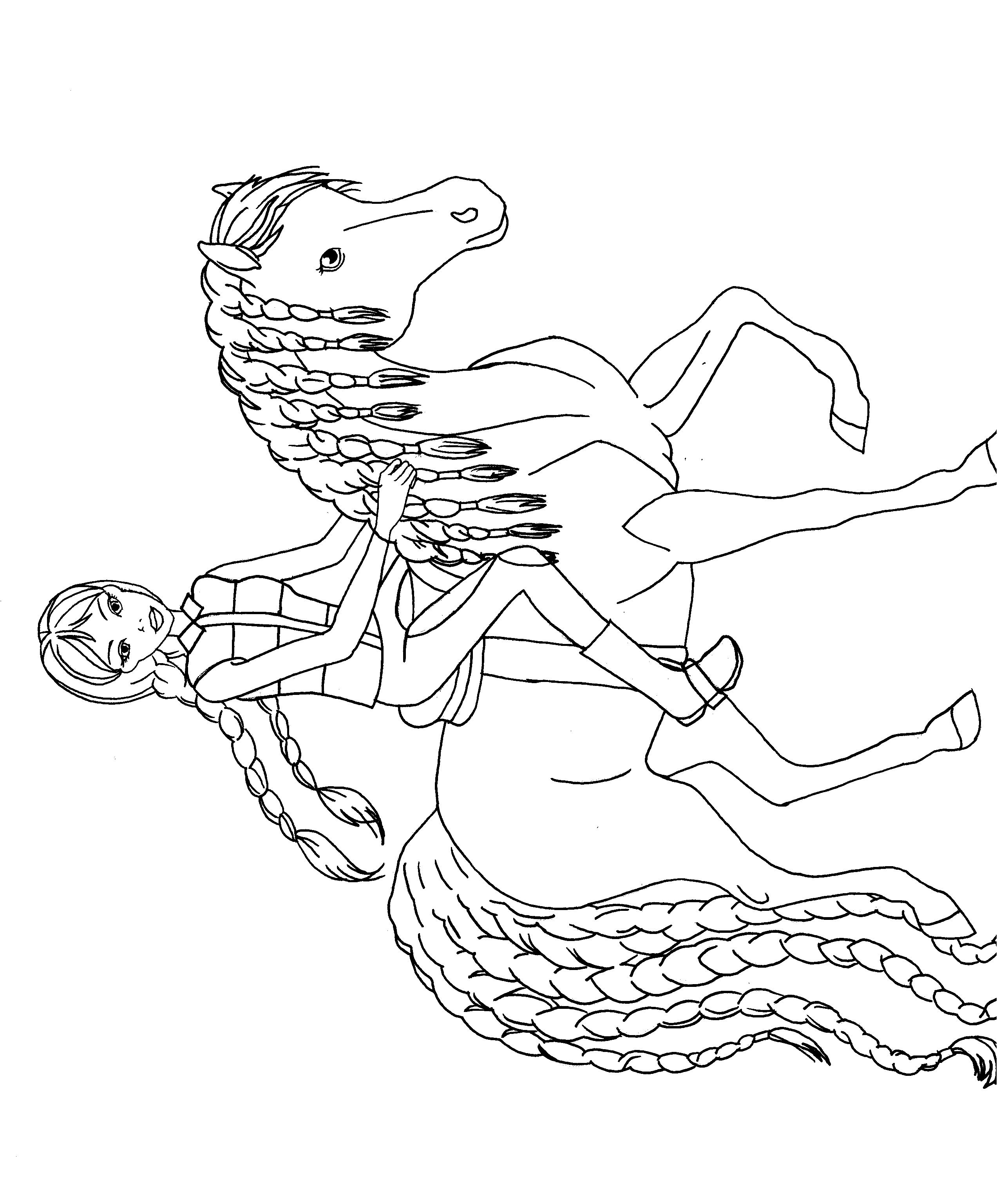 Reiterin mit Pferd | Ausmalbilder | Ausmalen, Malen und ...