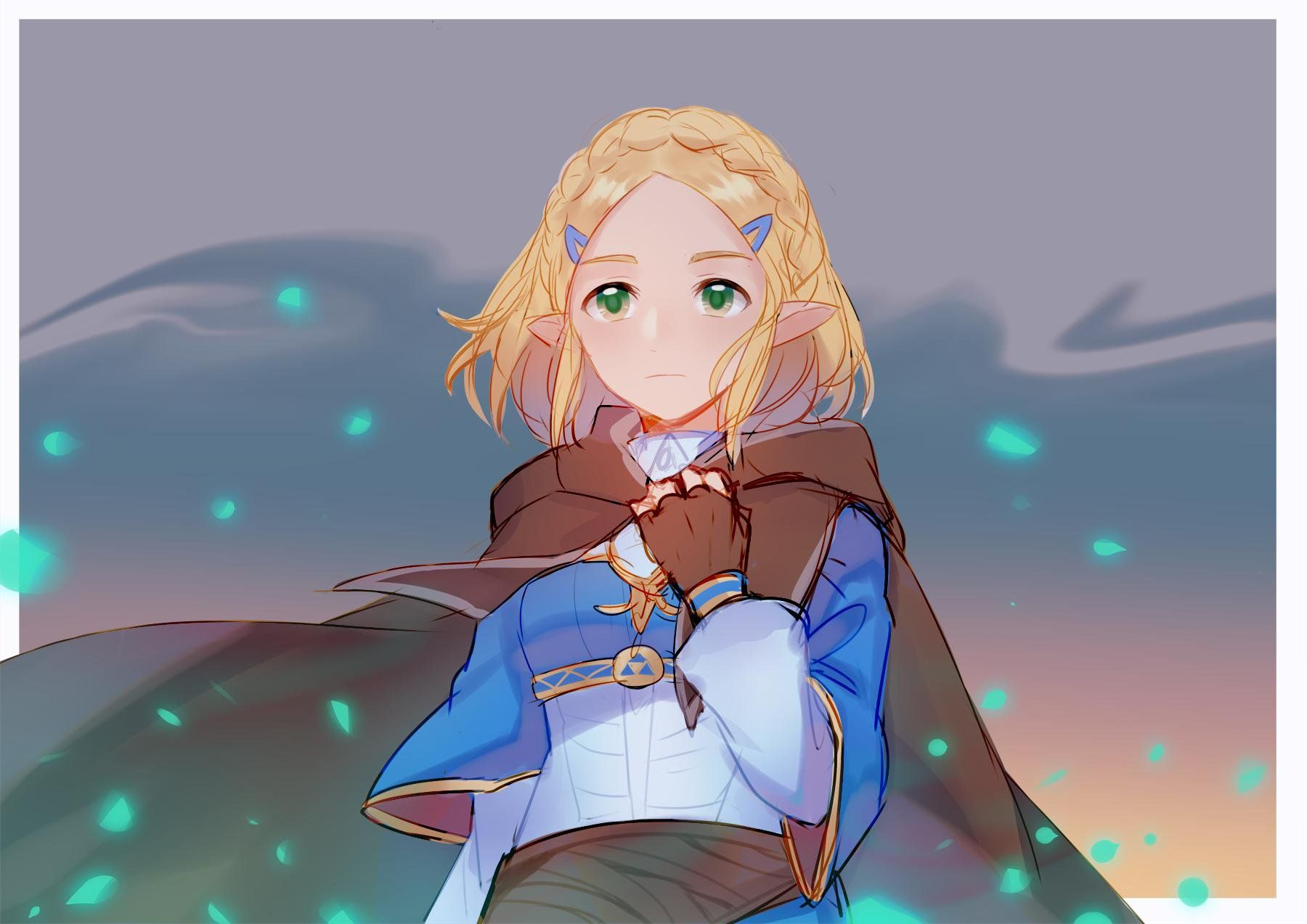 Princess Zelda Botw Short Hair By Chocomiru02 On Deviantart Legend Of Zelda Princess Zelda Breath Of The Wild