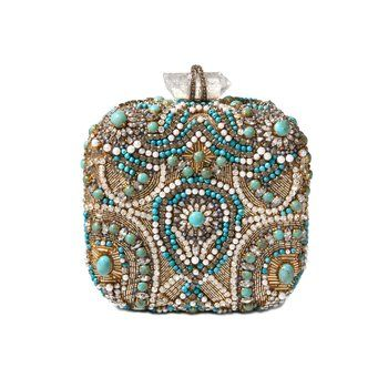 Embroidered Sophia Box Clutch