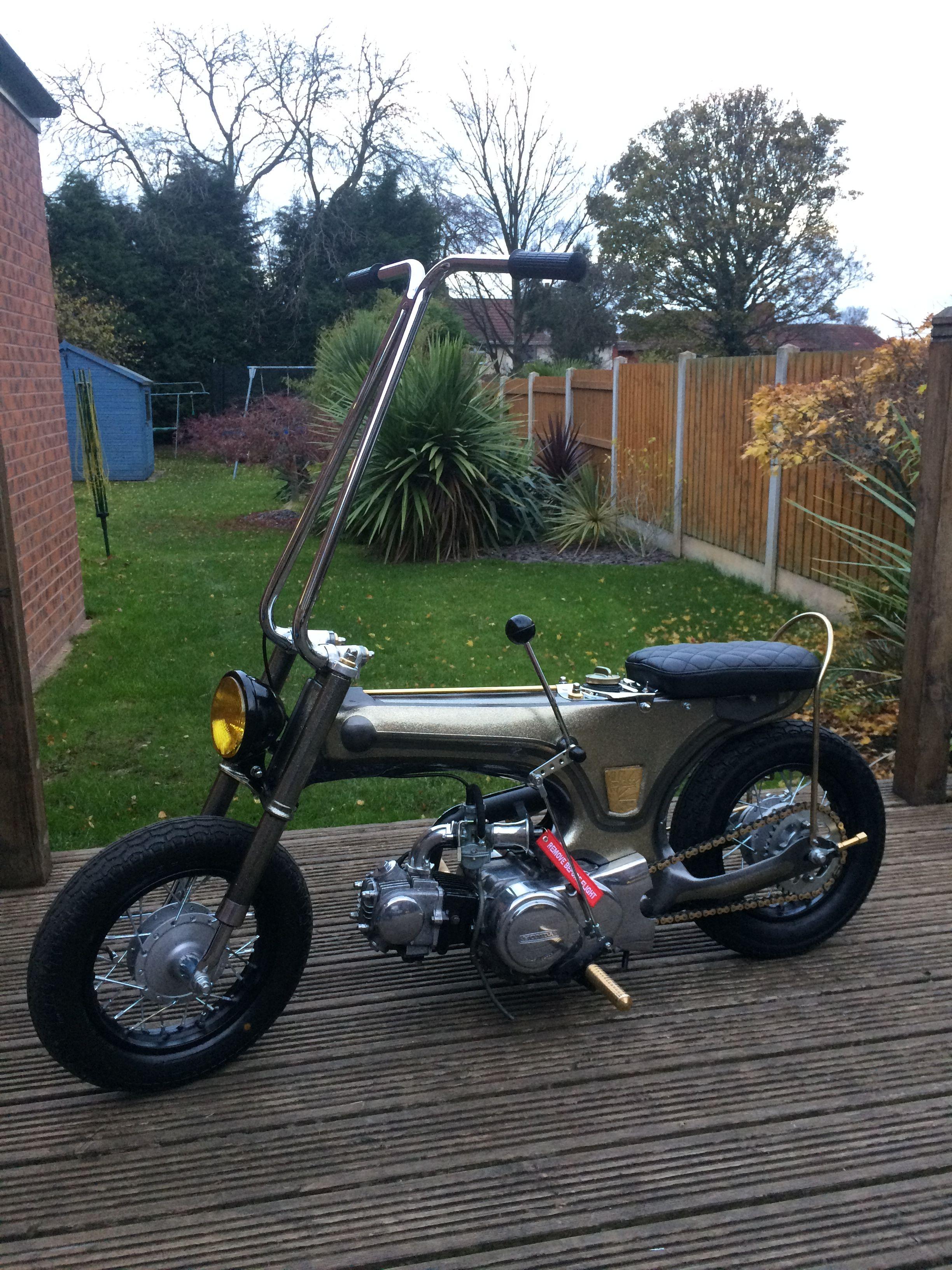 Pin By Fastwheels On Dax Chopper Mini Bike Mini Motorbike Moped Motorcycle