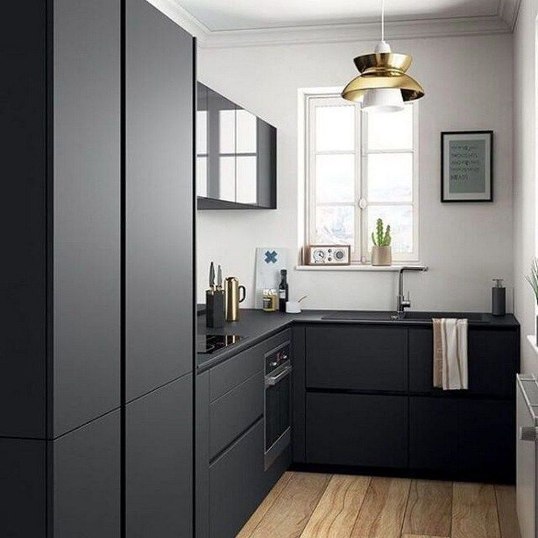 56 Best Ikea Kitchen Design Ideas 2019 84 Design And Decoration Modern Black Kitchen Small Modern Kitchens Kitchen Remodel Small