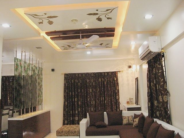 False ceiling design in living room by #Alacritys# ...