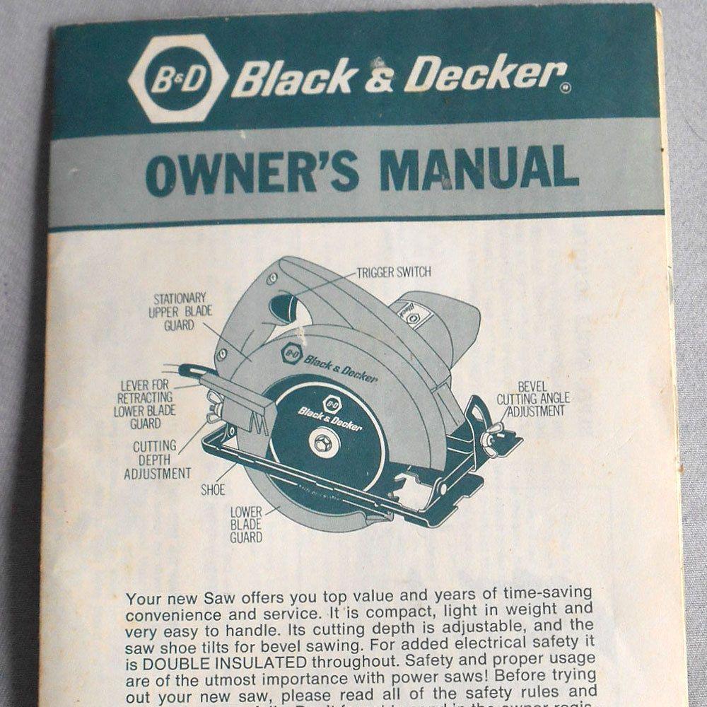 vtg instructions guide black decker circular saw 7300 owners rh pinterest com black and decker owners manuals 3486 black and decker owners manual for t02050s