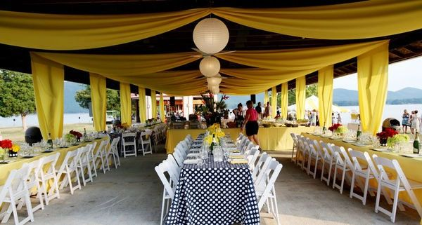 Decorating A Pavilion For A Wedding Reception Found On