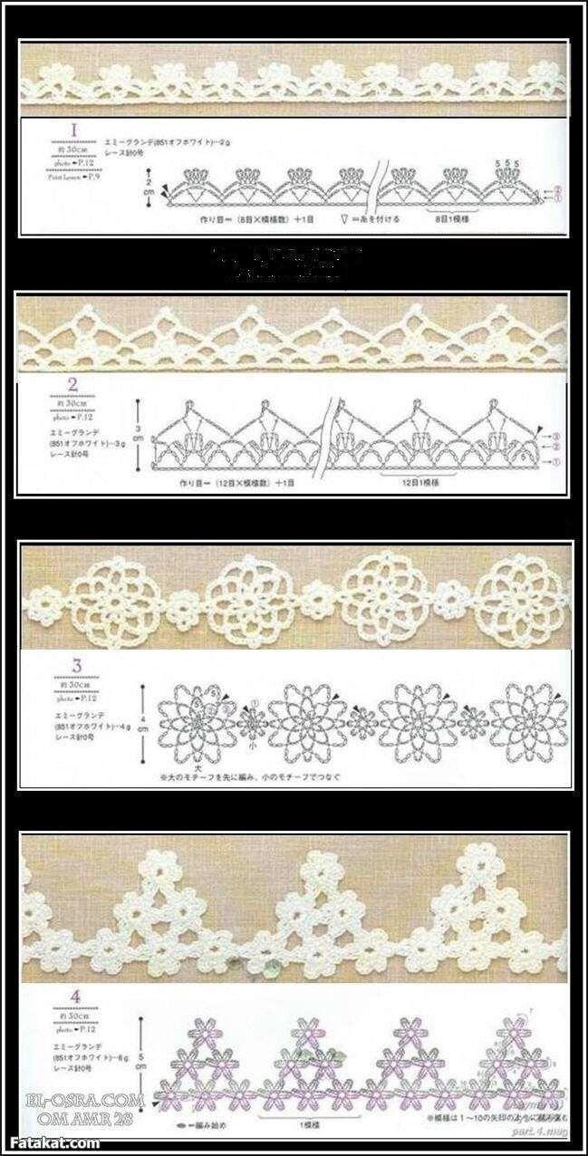Pin de ruba en Crochet Lace , Trims & Edgings | Pinterest | Paños ...
