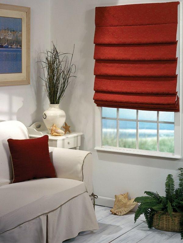 Erstaunlich Elegantes Rotes Faltrollo Wohnzimmer