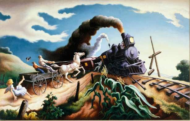 Thomas Hart Benton The Wreck of the Ole 97 | Thomas hart benton ...