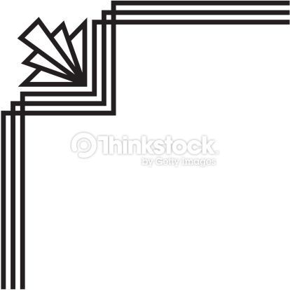 art deco corner vectors - Google Search | The Flapper ...