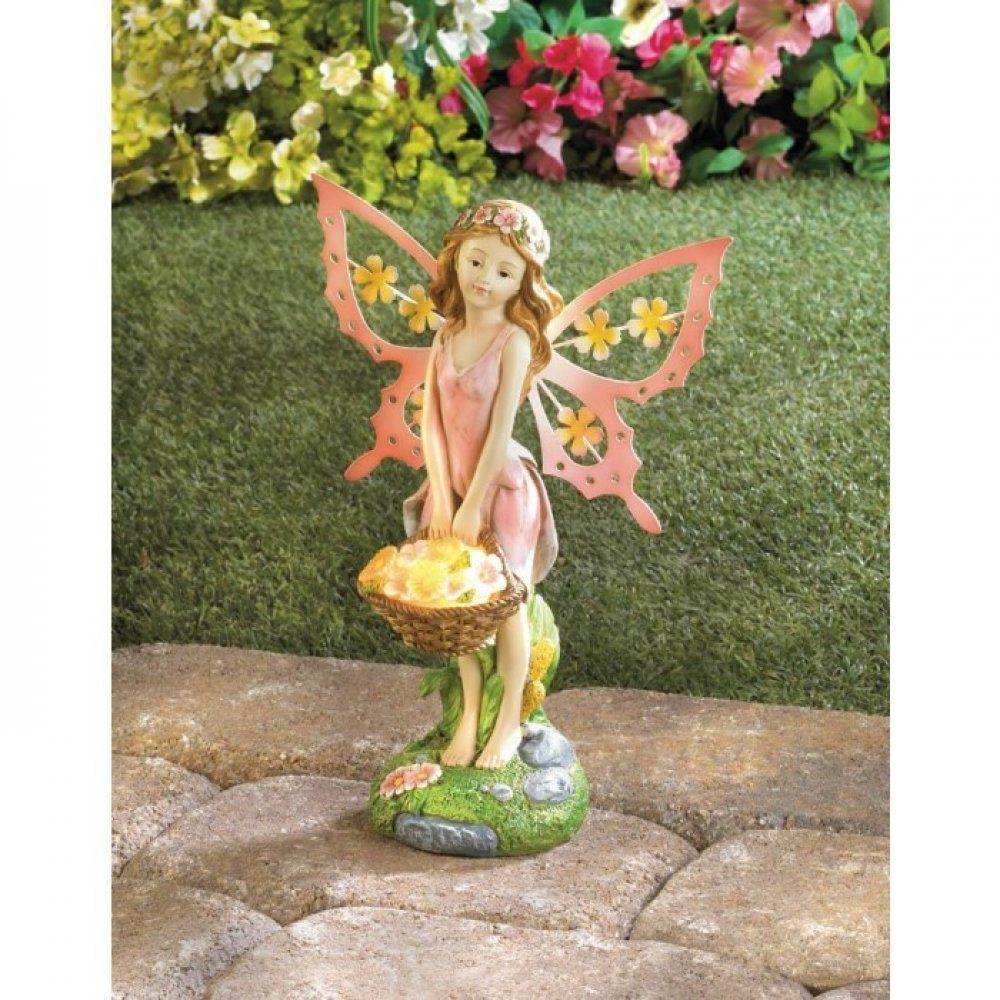 Fairy lawn ornaments - Fairy Lawn Ornament Solar Light Garden Decoration Pink Path Lighting Patio