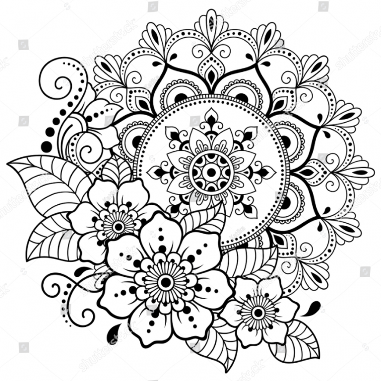 Circular Pattern Form Mandala Flower Henna Stock Vector Coloring Mandalas Coloring Jurnalistikon Flower Henna Mandala Coloring Pages Mandala Coloring Books