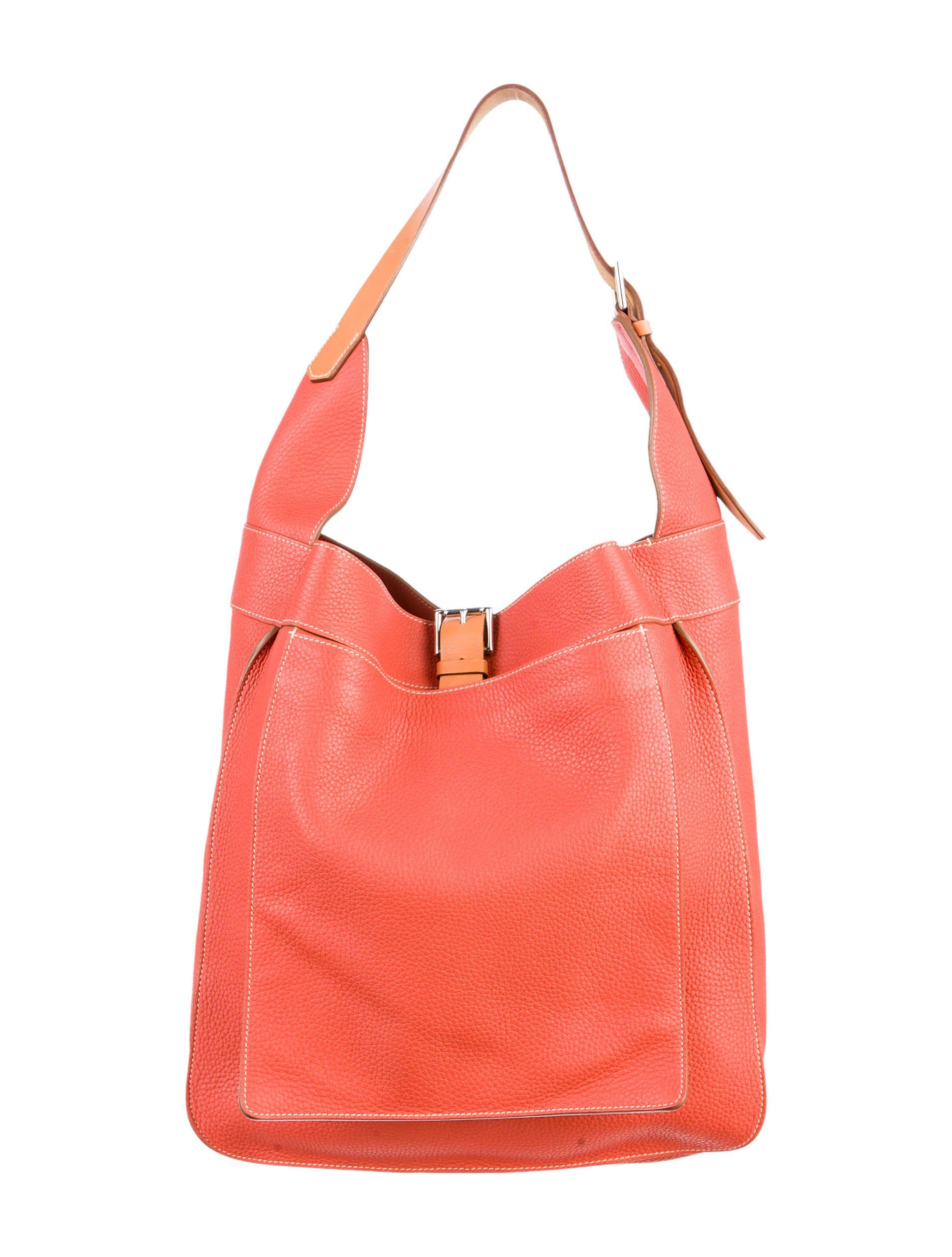 dae9e3ecf4f3 Bougainvillea clemence leather Hermès Marwari GM with palladium hardware