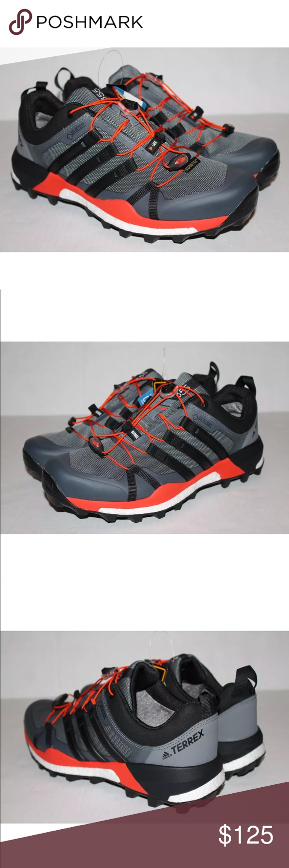 Adidas Terrex Skychaser Gtx Trail Hiking Shoe Equipped With Boost Technology And Gore Tex Shoes Are New Without The B Hiking Shoes Shoes Sneakers Adidas Shoes