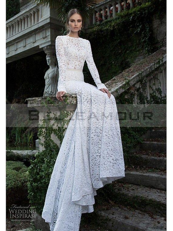Robe de mariee manche longue luxe