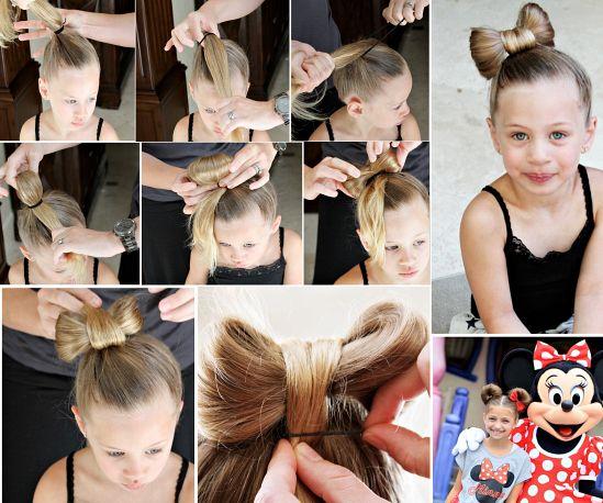 Diy Little Girls Hairstyles Little Girl Hairstyles Bow Hairstyle Girl Hairstyles