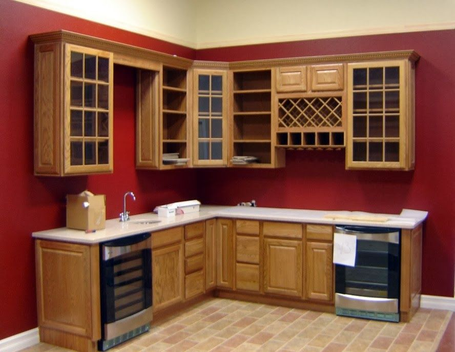 Red kitchen walls the modern home decor red wall for Kitchen wall paint design