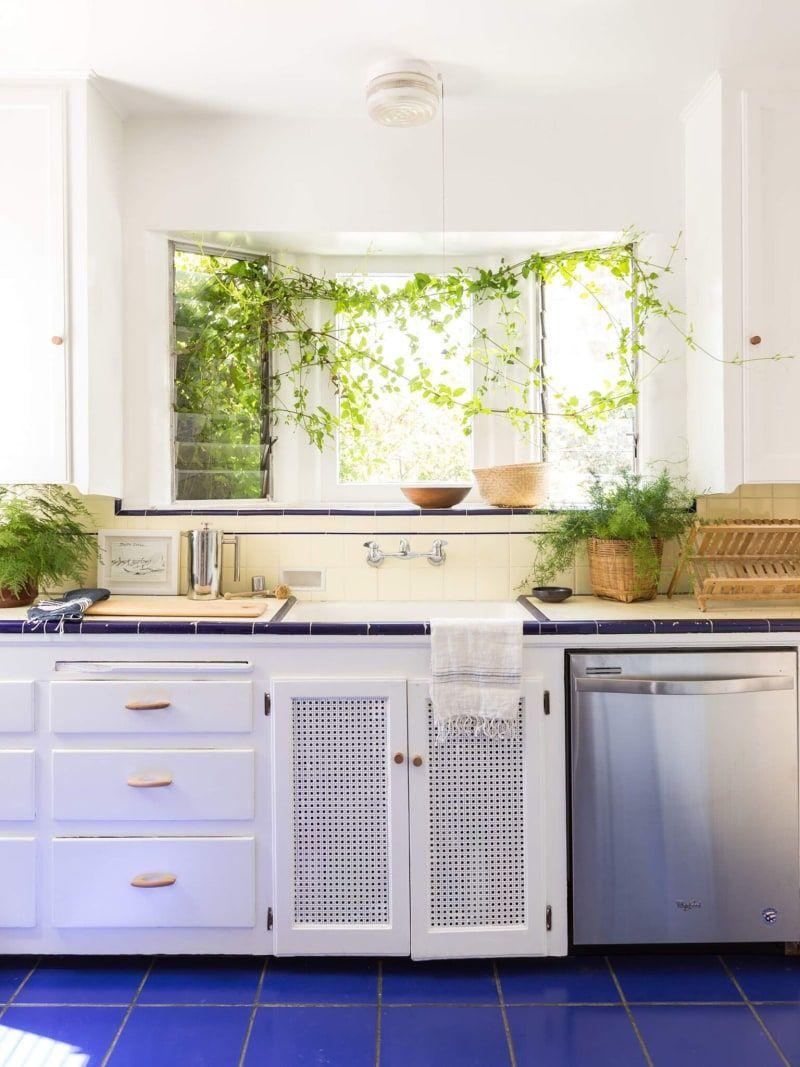 Old Blue Kitchen Tiling