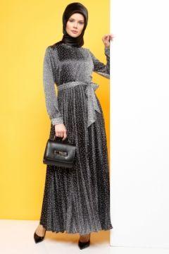 Pliseli Elbise Siyah Luvice Modasto Giyim Moda Https Modasto Com Luvice Kadin Br20991ct2