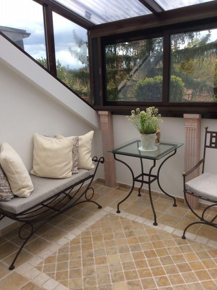 Wintergarten,Garten Möbel 3-teilig Set Metall, Bank,Stuhl mit ...