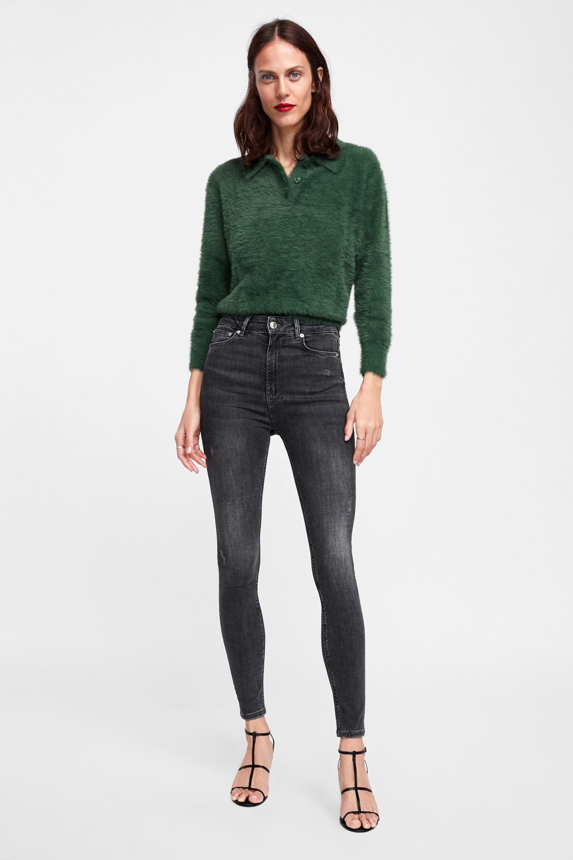 d479e26d Zw premium high waist skinny jeans in powder gray in 2019   2018 4 ...