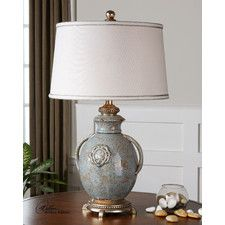 """Kidwelly 28.5"""" H Table Lamp with Drum Shade"""