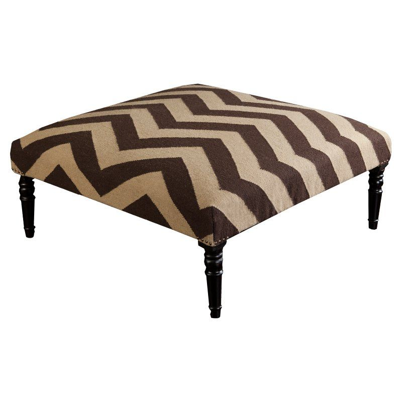 Surya Frontier Ottoman - Chocolate/Olive - FL1004-404018 | Products ...