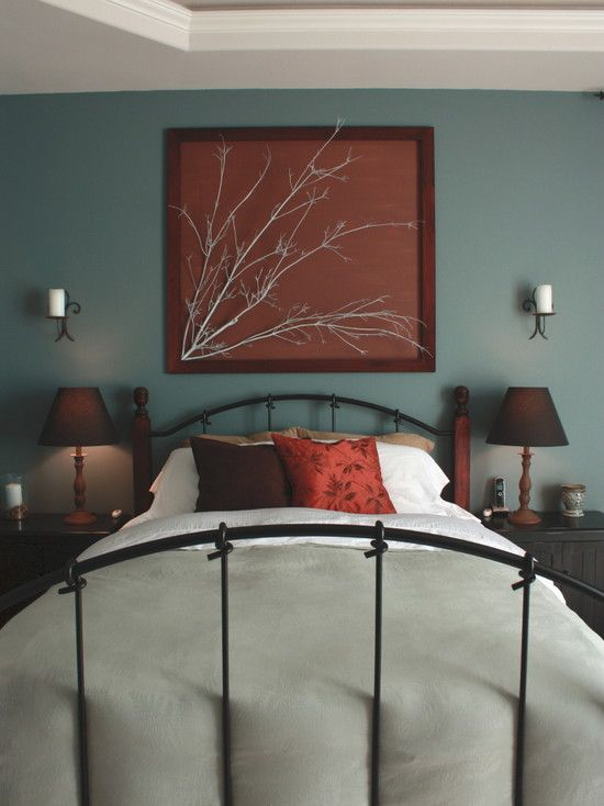 Tree Branch Wall Art Design Pictures Remodel Decor And Ideas - Teal and brown bedroom designs