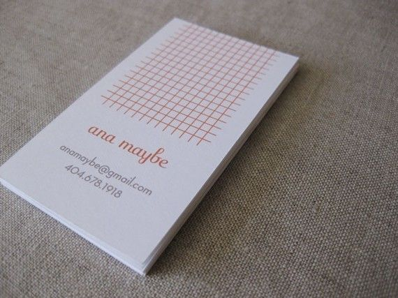 Graph Paper Calling Cards By Sweetbeaker On Etsy Business Card Inspiration Innovative Business Cards Calling Cards