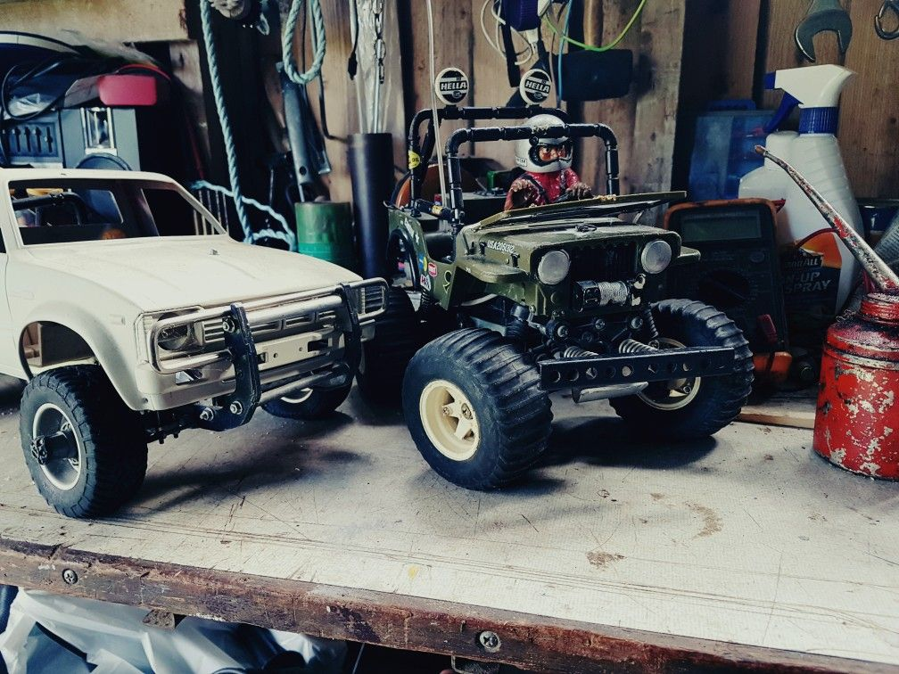 Tamiya Wild Willy & Toyota Hilux | hobby | Rc trucks