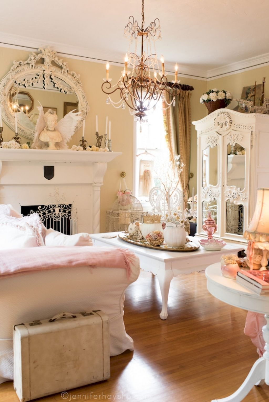Shabby chic living room decor ideas (30) | Shabby chic ...