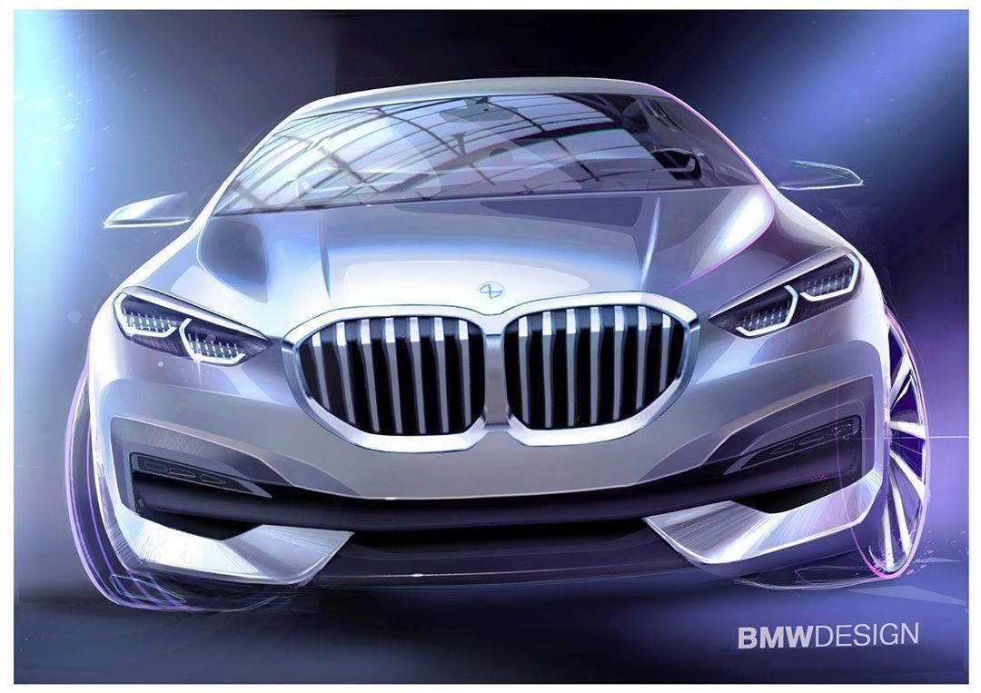 2020 BMW 1 Series official sketches by Sebastian Simm Sebastian Simm  #cardesign…