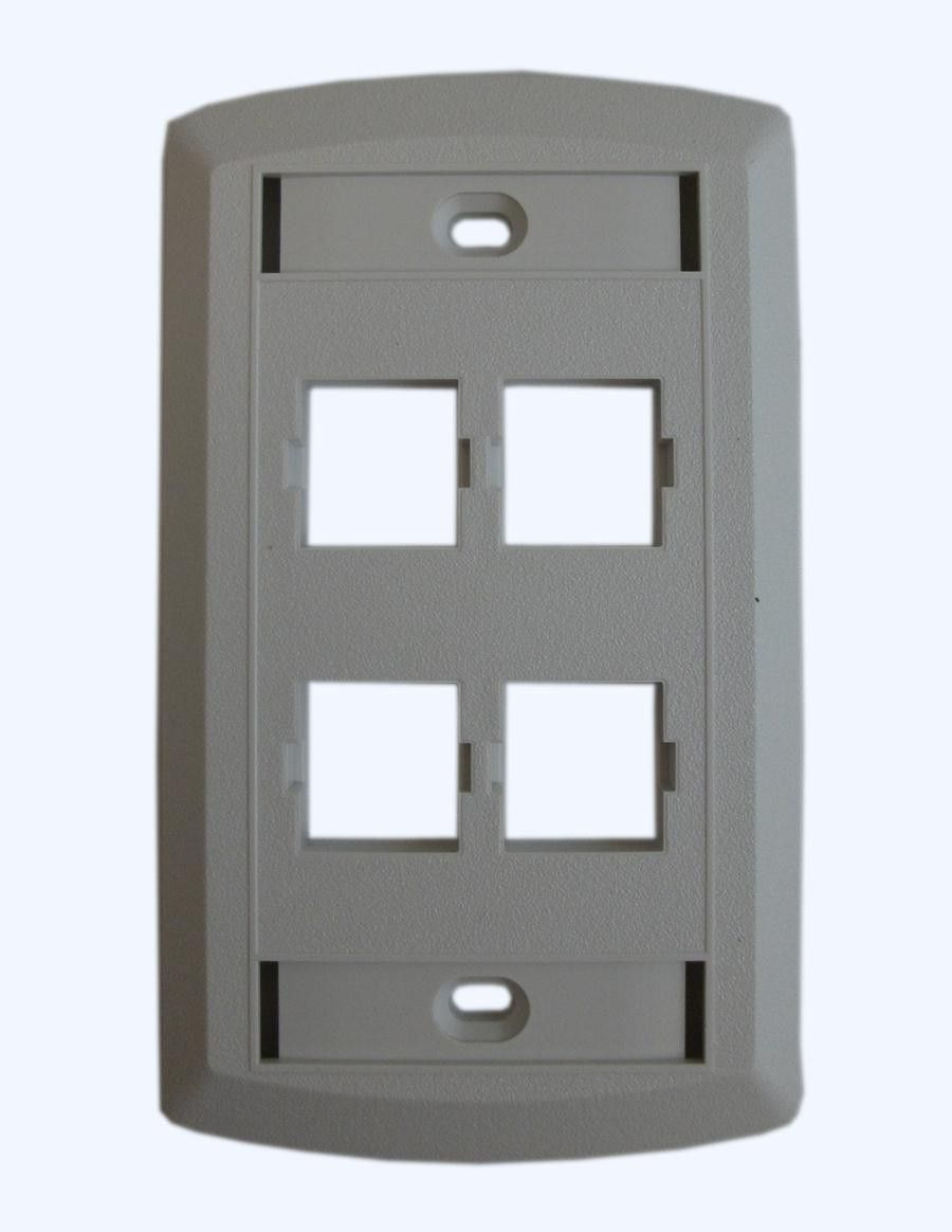 Outlet Faceplate Buy Suttle 4 Outlet Faceplate  White At Harvey & Haley For Only