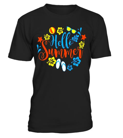 Fun And Cool Vacation 2017 T Shirt Hello Summer Break . Special Offer,