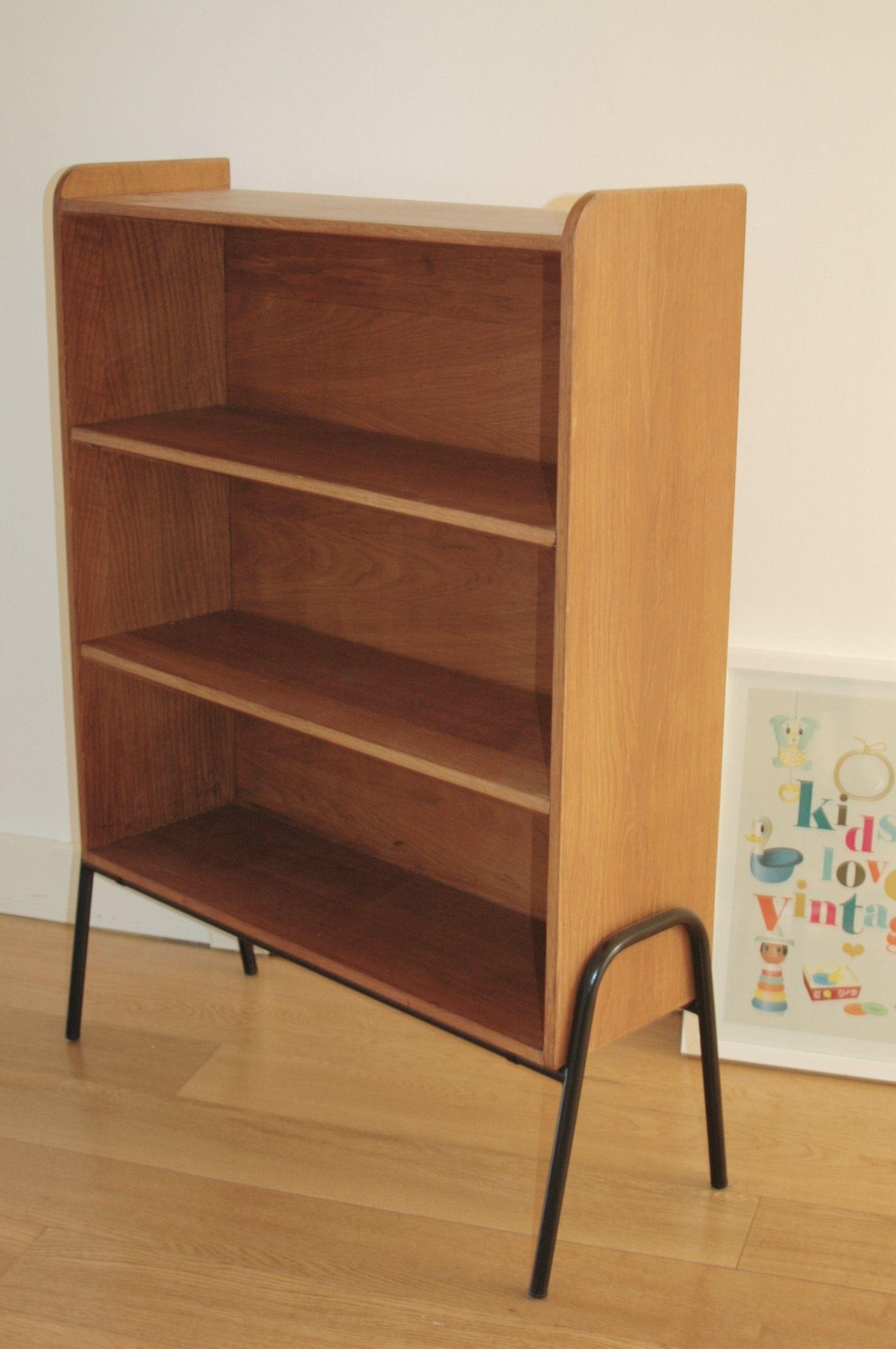jolie petite biblioth que vintage style hitier guariche mobilier. Black Bedroom Furniture Sets. Home Design Ideas
