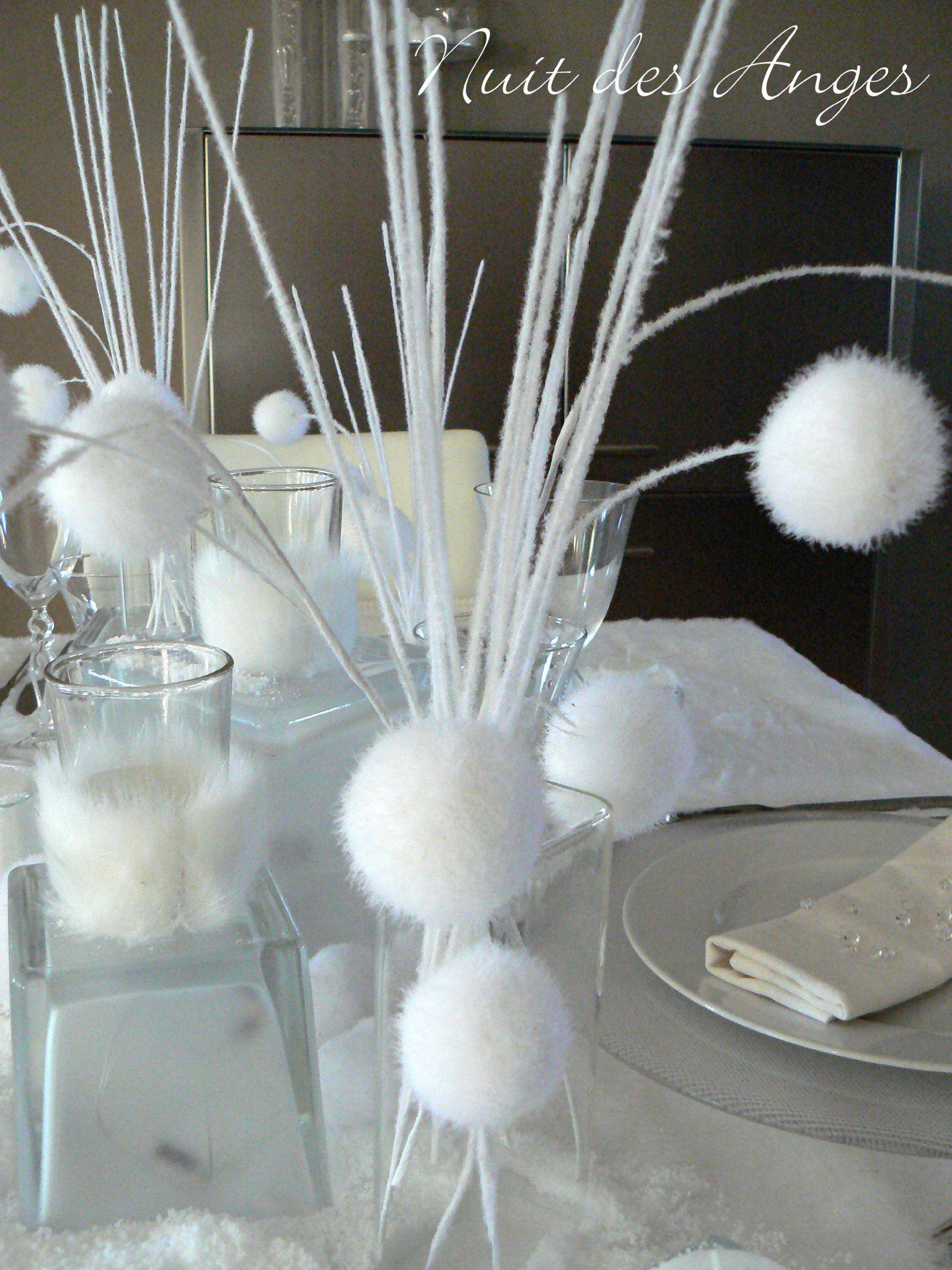 nuit des anges d coratrice de mariage d coration de table hiver blanc 007 d co mariage pinterest. Black Bedroom Furniture Sets. Home Design Ideas