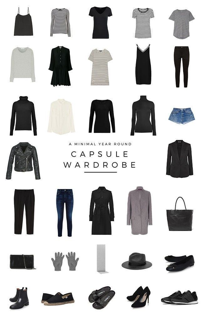 A minimalist capsule wardrobe for the entire year. How I built a minimal 32