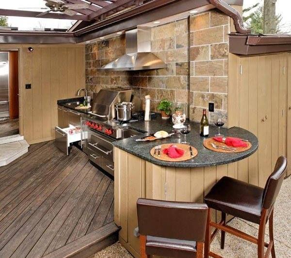 Gambar Desain Dapur Rumah Minimalis Modern Desain Dapur Outdoor