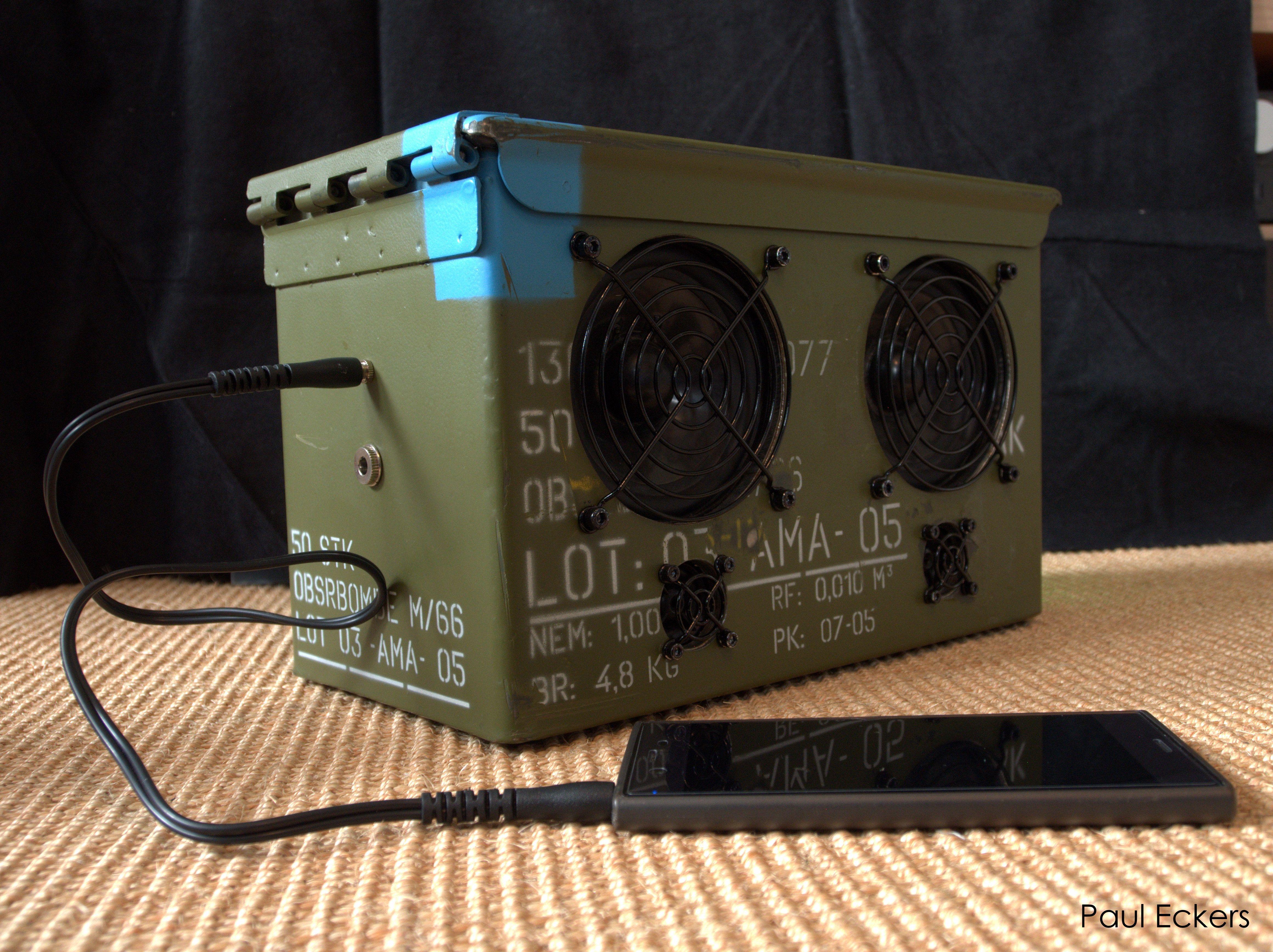 Diy Ammo Can Boombox 2x 2 5 Speaker Bluetooth Speaker