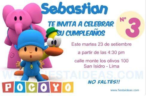 Invitacion Pocoyo 2 Jpg 488 320 Invitaciones De Cumpleanos Pocoyo Invitaciones De Cumpleanos Gratis