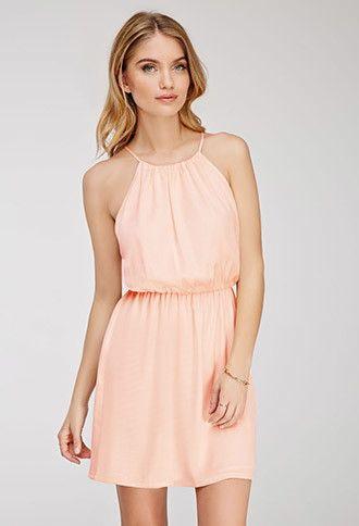 Crinkled Satin Halter Dress | Forever 21 - 2049258960