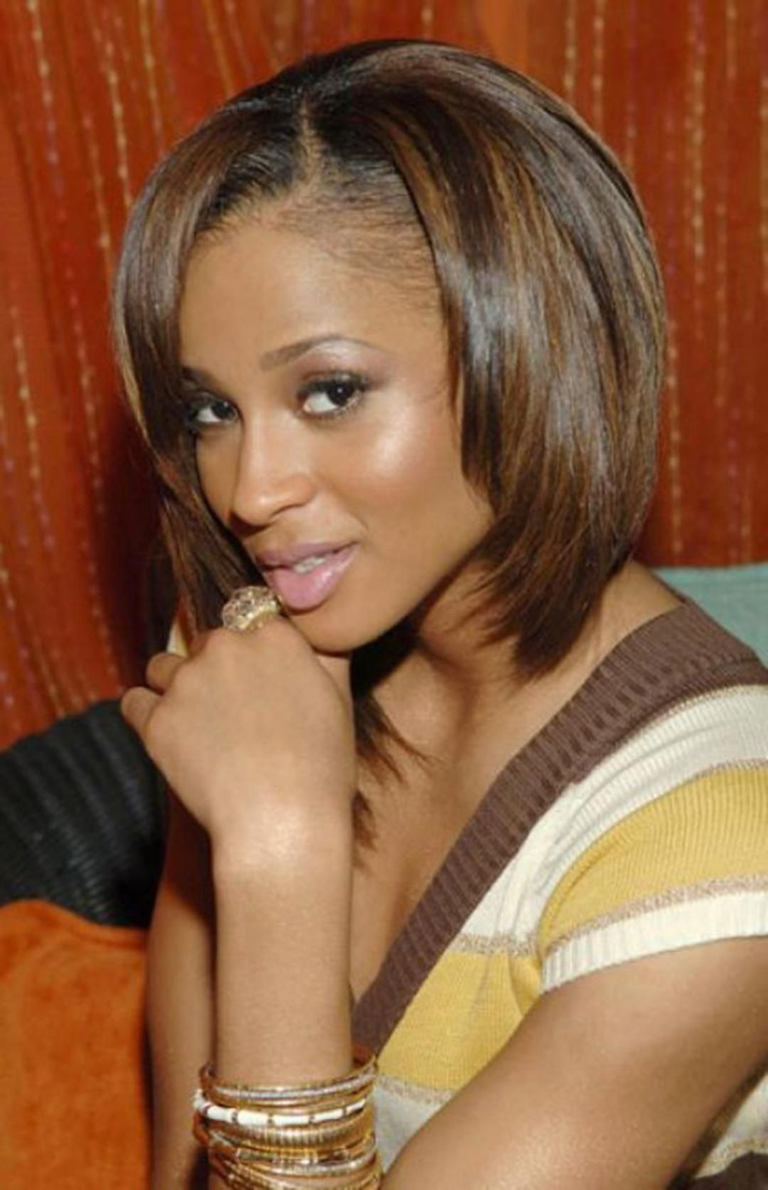 Shoulder Length Bob Hairstyles For Black Women Medium Length Bob Hairstyles African Ameri African American Bobs Hairstyles Medium Hair Styles Womens Hairstyles