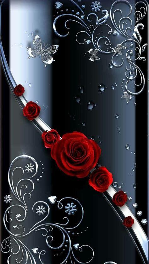 Black Swirls With Roses   Mariposas Fondos De Pantalla