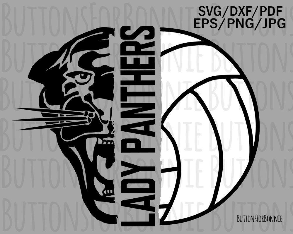 55d0e692d lady panthers, volleyball svg, volleyball mom svg, cut file, shirt design,  panther svg, school spirit, sport svg, team shirt, cricut by  ButtonsForBonnie on ...