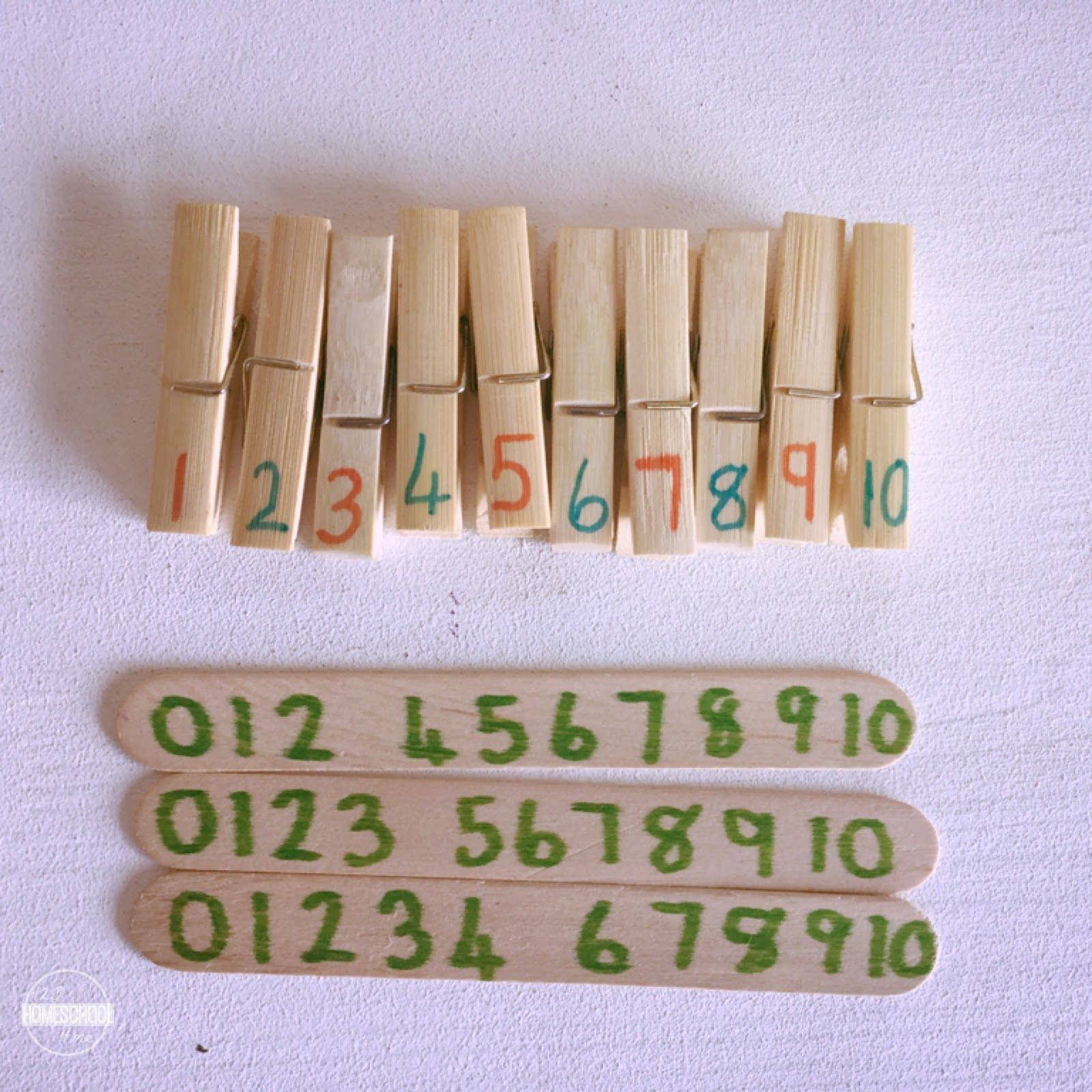 Number Line Missing Numbers Clip Sticks
