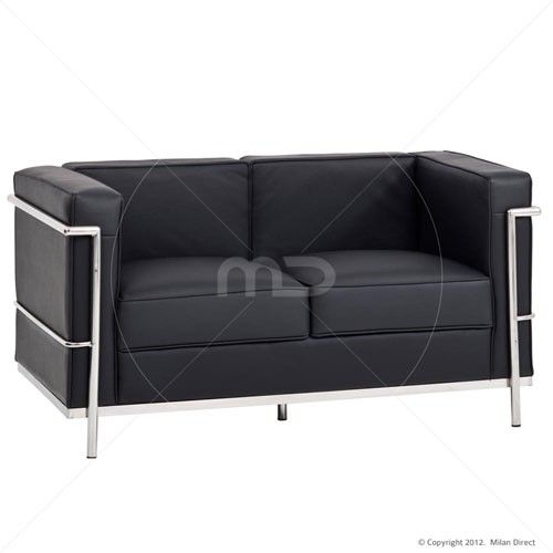le corbusier sofa replica sectional reclining sofas microfiber lc2 2 seater black design house