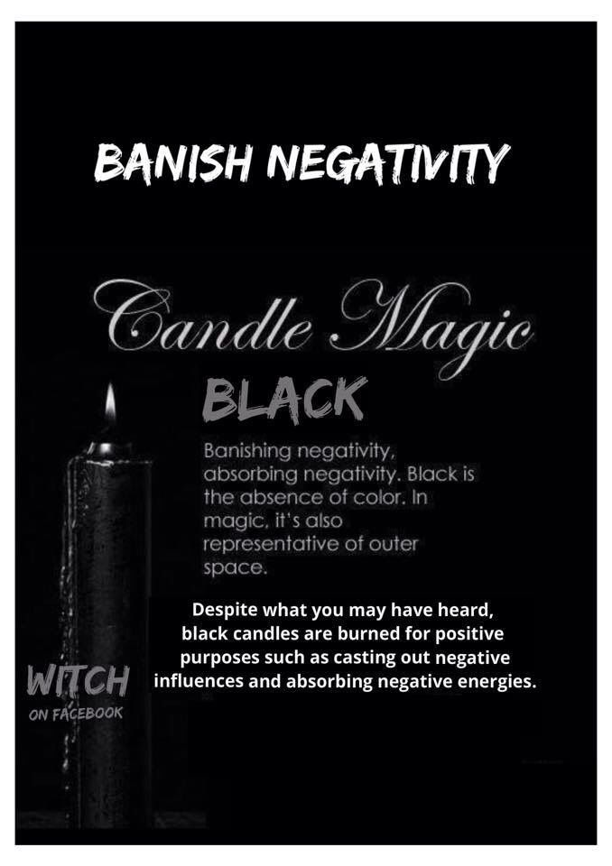 Candles: #Candle Magick ~ Black. - Pinned by The Mystic's ...