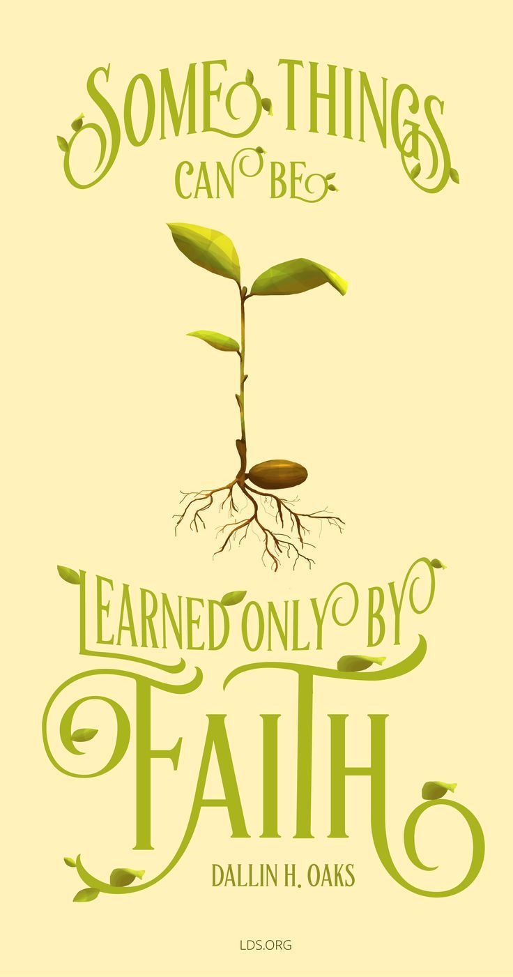 """""""Some things can be learned only by faith.""""—Dallin H. Oaks"""