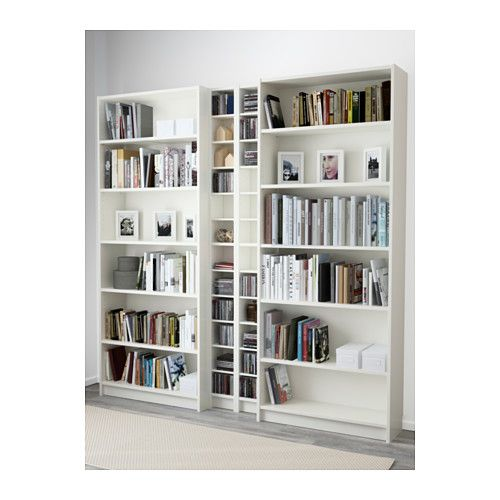 Billy Gnedby White Bookcase 200x28x202 Cm Ikea White Bookcase Bookcase White Bookshelves