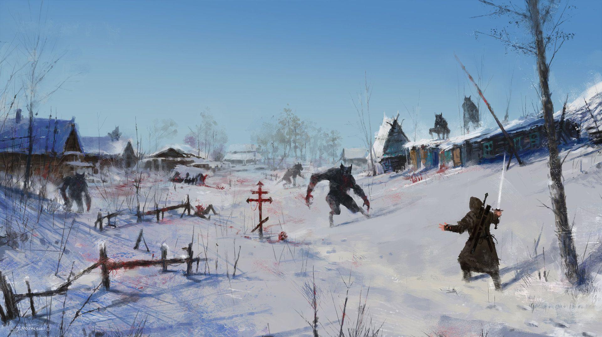 ArtStation - very severe winter..., Jakub Rozalski