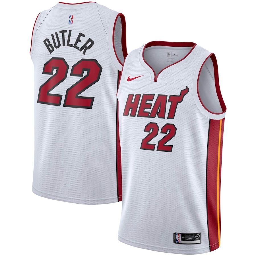 Men S Miami Heat Jimmy Butler Nike White 2019 2020 Swingman Jersey Association Edition In 2020 Miami Heat White Jersey White Nikes