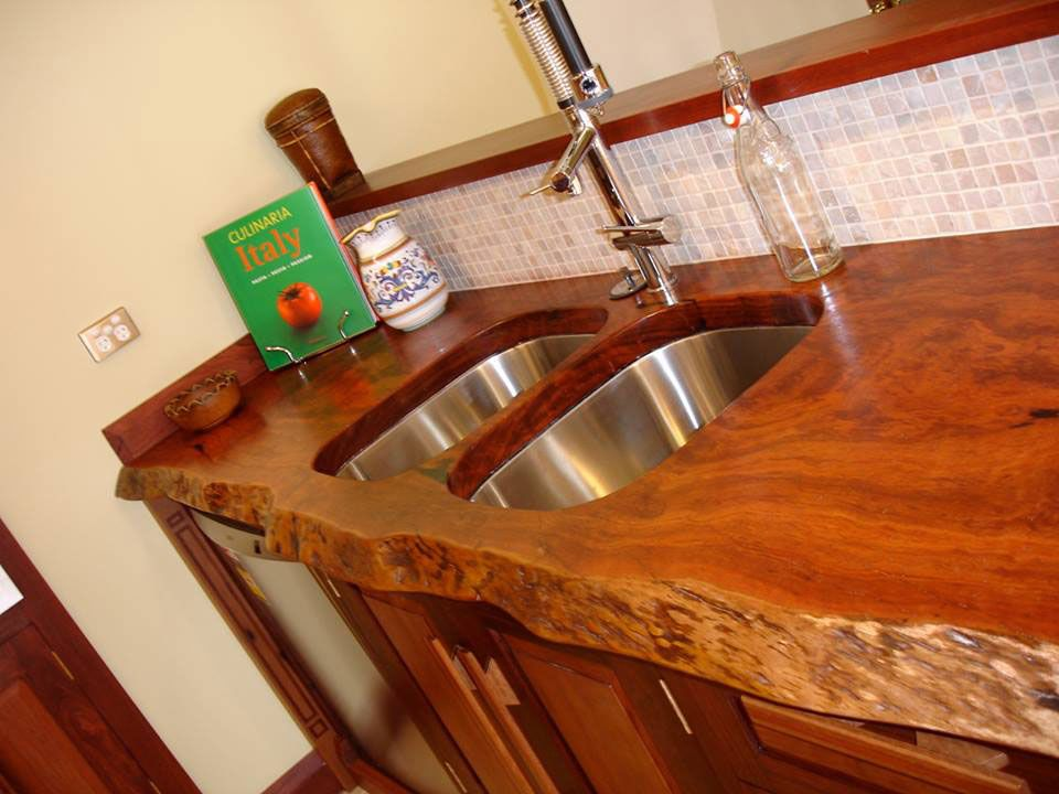 Redgum Natural Timber Edge Kitchen Bench Top. in 2019 ...